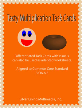 Multiplication Word Problem Task Cards - Aligned to the Co