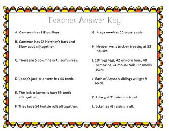 Multiplication Word Problem Task Cards (Halloween-3rd Grade)
