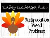 Multiplication Word Problem Turkey Scavenger Hunt