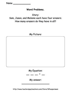 Multiplication Word Problems Worksheets