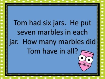 Multiplication Word Problems