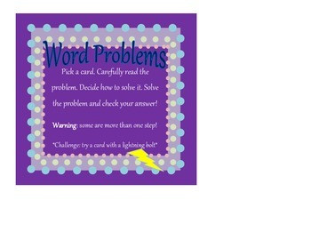 Multiplication Word Problems- 2-digit by 2-digit