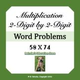 Multiplication Word Problems 2-digit by 2-digit (3 worksheets)