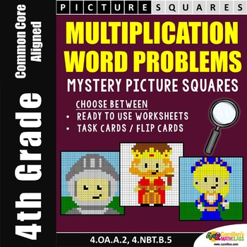 Multiplication Word Problems 4th Grade Mystery Pictures Coloring Worksheets