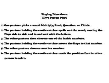 3rd Grade Multiplication Word Problems Practice/ Multiplication Center Game