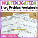 Multiplication Word Problem Worksheets