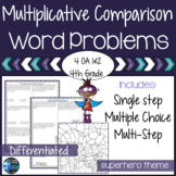 Multiplication Word Problems 4th Grade Multiplicative Comparison