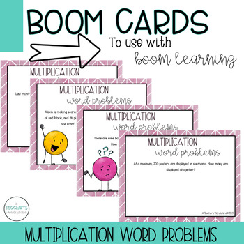 Multiplication Word Problems Boom Cards [For Boom Learning]