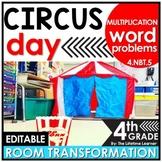4th Grade Multiplication Word Problems | Circus Classroom Transformation