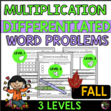 Multiplication Word Problems (Differentiated) Fall Theme