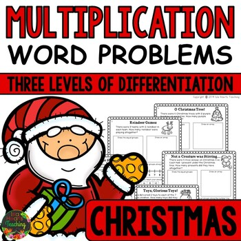 Christmas Math - Christmas Word Problems (Multiplication)