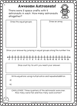 Multiplication Word Problems (Multiplication Worksheets)