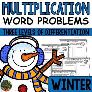 Multiplication Word Problems (Winter Multiplication Story Problems)