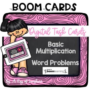 Multiplication Word Problems - Digital Task Cards