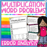 Multiplication Word Problems Error Analysis