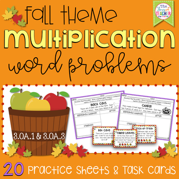Multiplication Word Problems: Fall