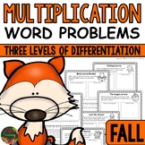 Multiplication Word Problems (Fall Multiplication Story Problems)