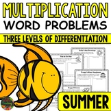 Multiplication Word Problems (Summer Multiplication Story Problems)