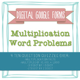 Multiplication Word Problems GOOGLE FORMS