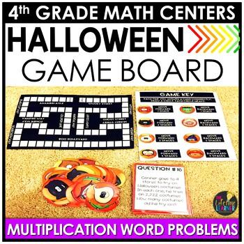 Multiplication Word Problems Game October Math Center