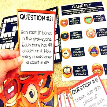 Multiplication Word Problems Halloween Game