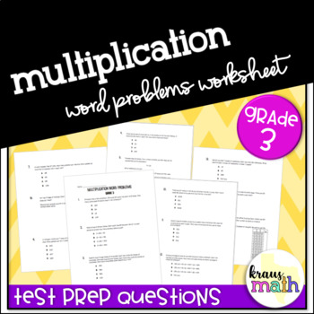 Multiplication Word Problems: Grade 3