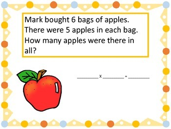 Multiplication Word Problems---Grocery Store Theme