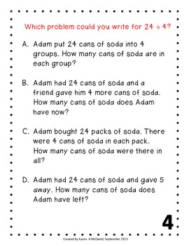 Multiplication Word Problems - Invitational Groups (Common Core)
