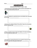 Multiplication Word Problems (Minecraft Inspired) 2 Digits x 1 Digit