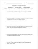 Multiplication Word Problems - Number of Groups Unknown