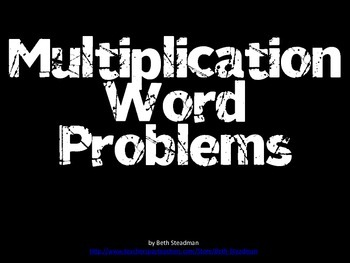 Multiplication Word Problems PowerPoint