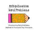 Multiplication Word Problems Practice