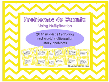 Multiplication Word Problems/ Problemas de Cuento de Multiplicacion