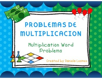 Math Task Cards Multiplication Word Problems/Multiplicacion SPANISH ONLY