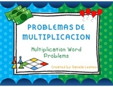 Math Task Cards Multiplication Word Problems/Multiplicacio