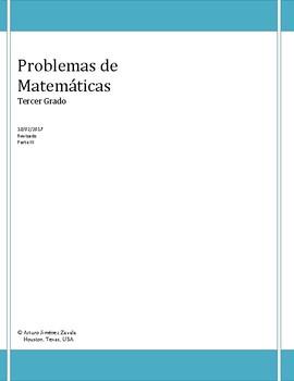 Multiplication Word Problems - Problemas de multiplicación - Spanish