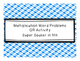 Multiplication Word Problems QR Code Activity