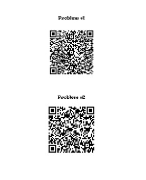 Multiplication Word Problems QR Codes