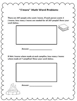 Multiplication Word Problems: S'mores Theme