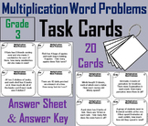 3rd Grade Multiplication Word Problems Task Cards