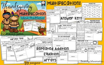 Multiplication Word Problems: Thanksgiving