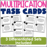 Multiplication Task Cards: Single Digit Number Word Problems