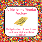 4.NBT.5 Multiplication Word Problems- Willy Wonka Theme