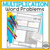 Multiplication Word Problems for 3rd Grade Work Mat & Task Cards