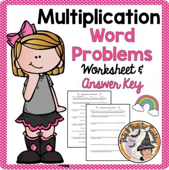 Multiplication Word Problems Worksheet with Answer KEY Multiply Practice