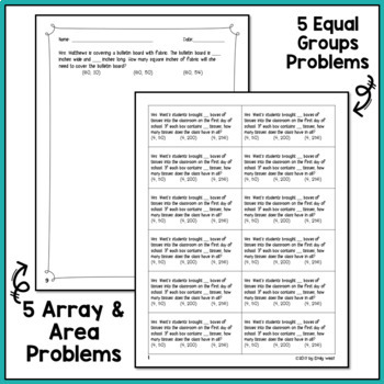 4th Grade CGI Multiplication Word Problems and Discussion Guide Fall BUNDLE