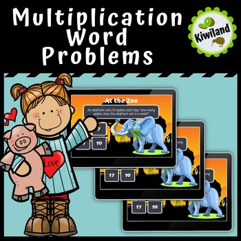 Multiplication Word Problems at the Zoo - Boom Learning Cards