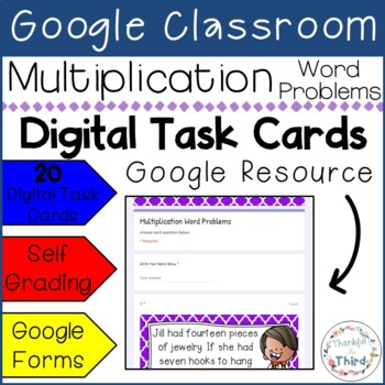 Multiplication Word Problems l Google Forms l Google Classroom