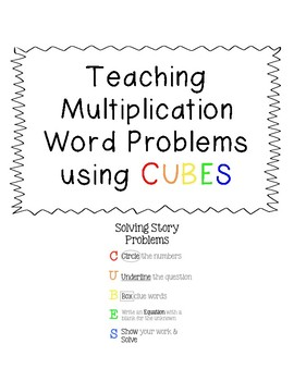 Multiplication Word Problems using CUBES
