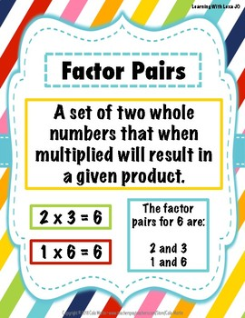 Multiplication Word Wall